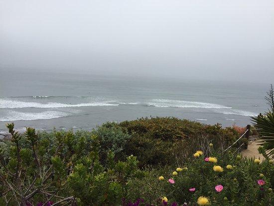 Encinitas, CA: vista do mar, feita no topo do jardim