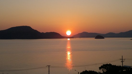 Kantary Bay, Phuket: View from our balcony at sunset