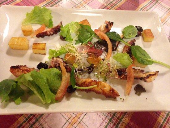 Ponzano Veneto, إيطاليا: Insalata di piovra con patate e olive taggiasche