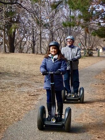 Magical History Tour: Daughter and Dad - Great day for our first time on a Segway!