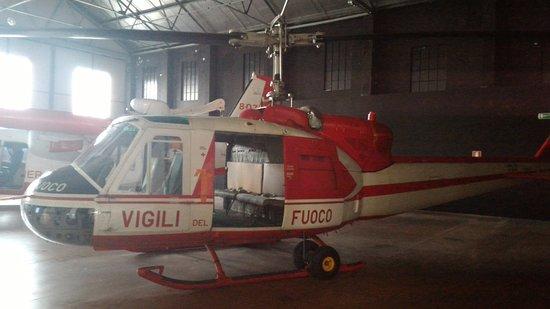 Volandia Parco e Museo del Volo Malpensa: Elicottero dei Vigili del Fuoco.