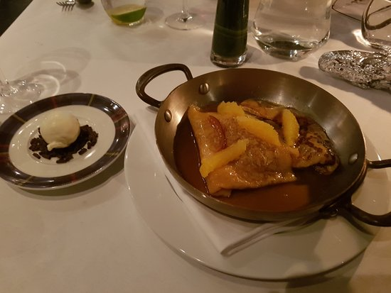 Arden, UK: crepes Suzette (in Grand Marnier)