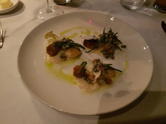 Arden, UK: Orkney Scallops (Braised Short Rib and Cauliflower)