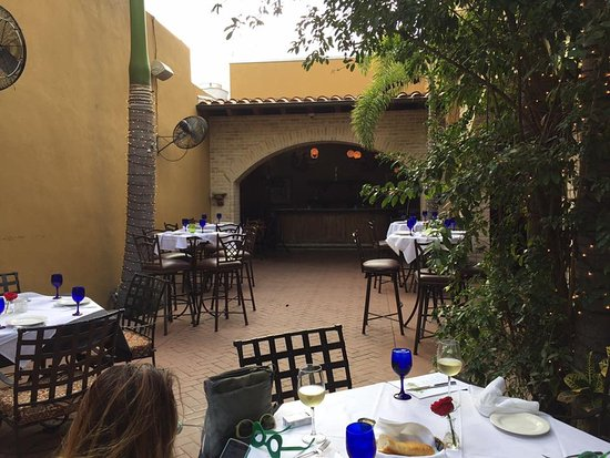 The Patio On Guerra: Dinner On The Patio Was Beautiful