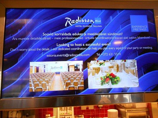 Cafe Boulevard: Informationstavla på cafèt.