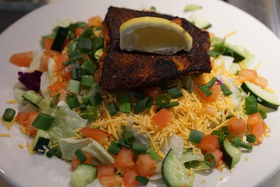 Boardman, Oregón: Salmon salad