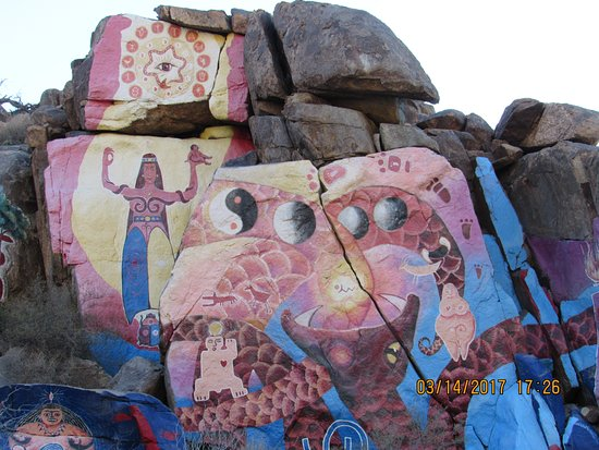 Chloride, AZ: a close up of the full mural