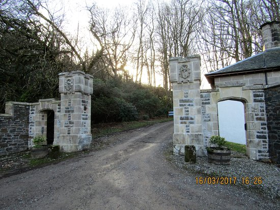 Carradale, UK: Entrance to the estate and South Lodge