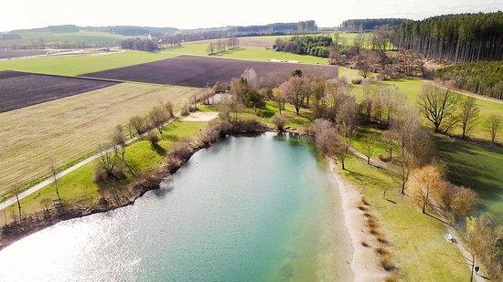 Eichenau b Muenchen, Alemanha: Westseite des Sees, Blick Richtung Fürstenfeldbruck