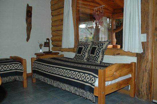 Arcadia Patagonia: Estar cabaña 2 ambientes