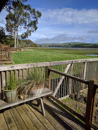 Inverness, Kalifornia: View of bay from porch of room #5