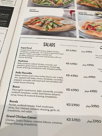 pizza express 6 salads in the regular menu