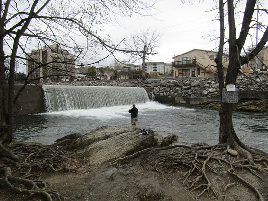 View picture of the old mill restaurant pigeon forge for Fishing in pigeon forge tn