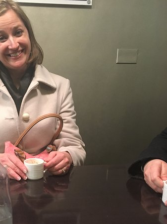 Chicago Food Planet Food Tours : My daughter, very happy after the hot chocolate tasting!
