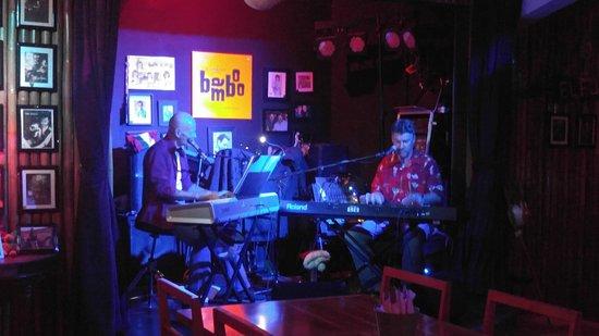 Ojochal, Costa Rica: the band hard at work