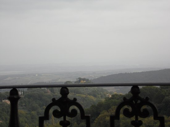 Beautiful view of Tuscany from Caffe Poliziano