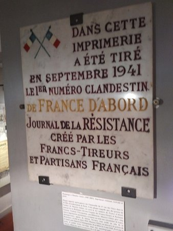 ‪‪Musee De La Resistance Nationale‬: Memorial of Resistance Newspapers‬