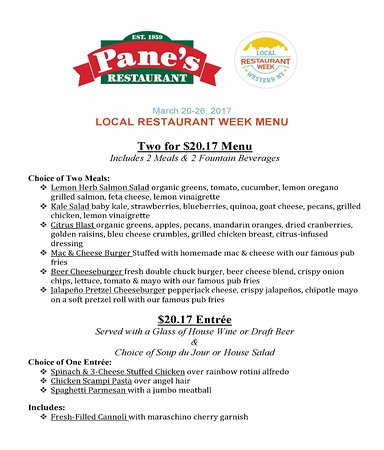 North Tonawanda, นิวยอร์ก: Pleased to take part in Local Restaurant Week March 20-26th
