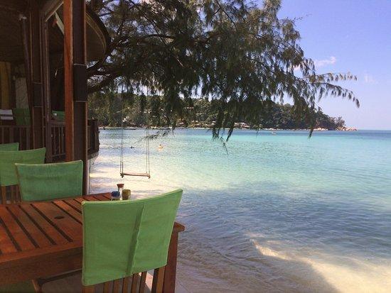 Green Papaya Resort: Vu depuis le restaurant