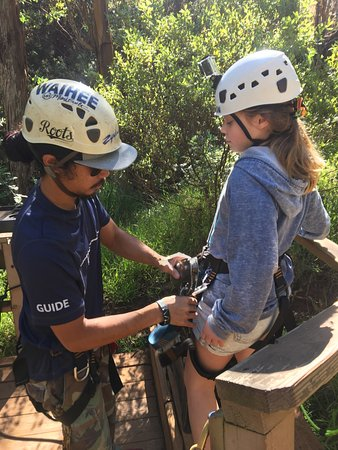Skyline Eco-Adventures Zipline Tours: Awesome time! Highly recommend. Our kids are 11 and 13 and they loved it!