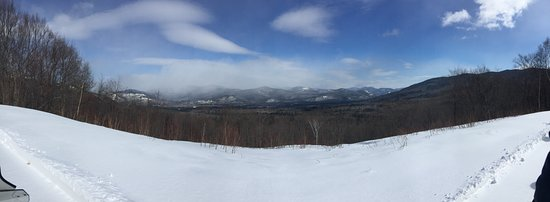 Northern Extremes Snowmobiling - Tours: Panoramic view of mountains on trail !