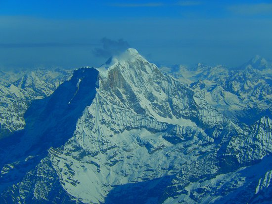 Kathmandu Valley, Nepal: Flying over the highest point on earth - the Mount Everest, Nepal