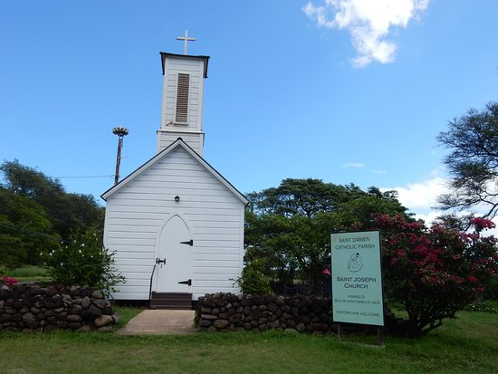 Kaunakakai, Hawái: church outside