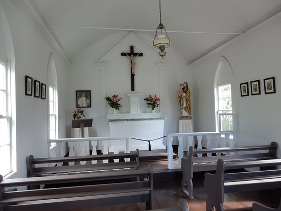 Kaunakakai, Гавайи: church inside