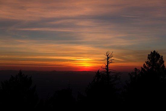 Mount Lemmon, AZ: Sunset from atop Mt. Lemmon