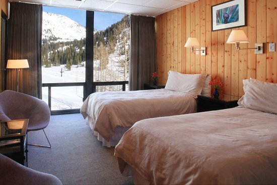 Alta, UT: East wing room with a mountain view.
