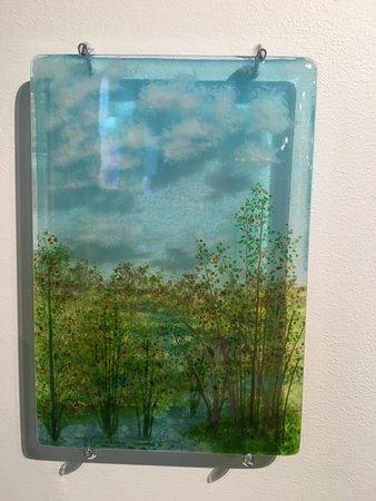 Greenbank, WA: Glass art work at the gallery