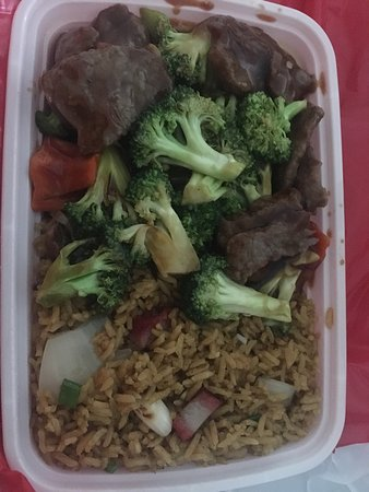Άντερσον, Νότια Καρολίνα: Beef and Broccoli combination special - comes w egg roll