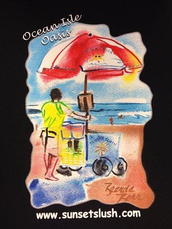 Sunset Slush - Classic Italian Ice: Cart on the beach