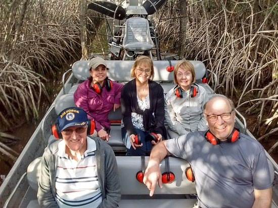 Jungle Erv's Everglades Airboat Tours: There was room for one more...if it's chilly be certain to grab a jacket