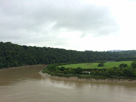 The view of the river Wye from Chepstow Castle