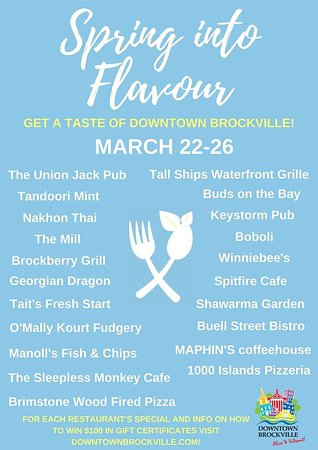 Brockville, Canada: Spring Into Flavour