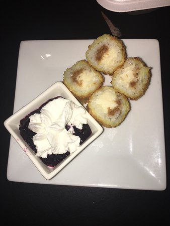 Han the Sushi Man: Blueberry cheesecake