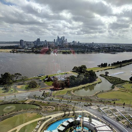 Burswood, Australien: City view from the room