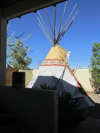Elephant Butte, Nuevo Mexico: Back patio.