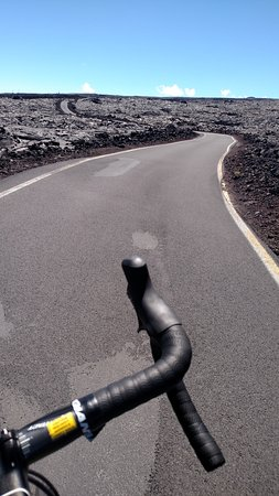 Waimea, HI: Handlebar point of view from one of the headwalls on the trail