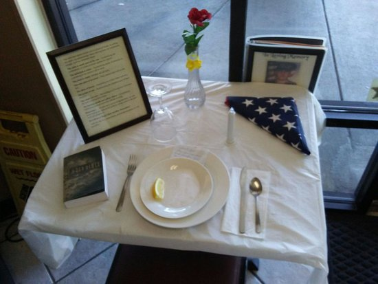 Spring Hill, FL: Fallen Soldier's Table