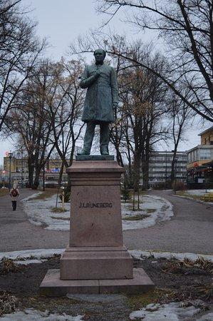 Порвоо, Финляндия: памятник Й. Л. Рунебергу