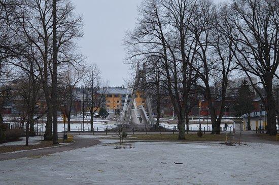 Порвоо, Финляндия: вид от памятника