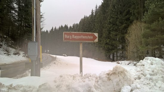Rappottenstein, Austria: Указатель на замок.