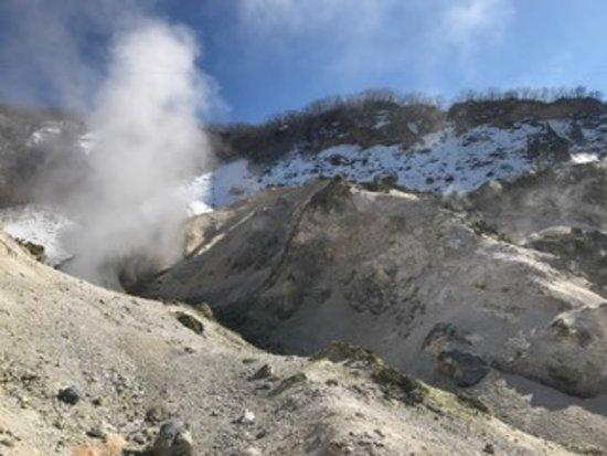 Noboribetsu, Japan: モクモク煙が上がってます