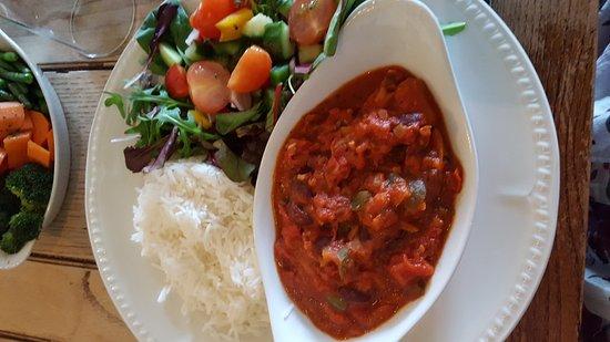 Langport, UK: Vegan bean stew so yummy!