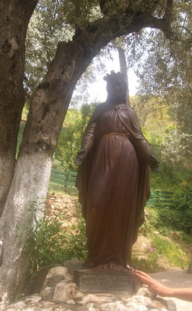 Meryemana (The Virgin Mary's House): 入口的聖瑪利亞像