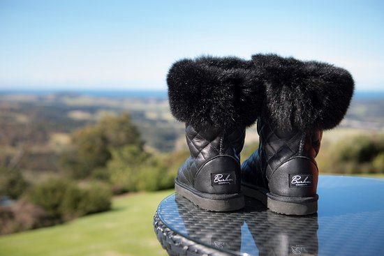 Miami, Australien: My quilted leather and fur boots - Love