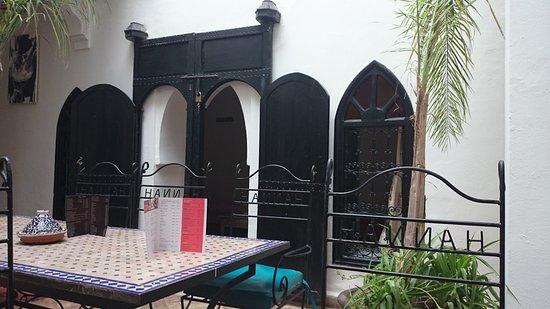 Riad Hannah City Hotel : salle intéieure du riad