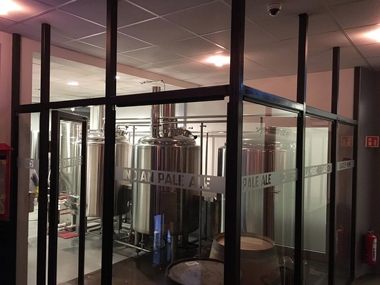 Vestmannaeyjar, Iceland: The Brothers Brewery brewhouse